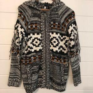 Boho tunic sweater